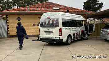 Childcare centre minibus allegedly stolen and crashed into carport
