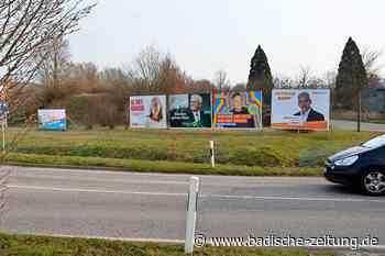 Polizei ermittelt wegen zerstörter Wahlplakate in Ehrenkirchen - Ehrenkirchen - Badische Zeitung