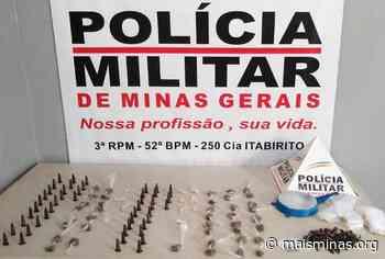 Jovem é preso por tráfico de drogas no bairro Adelmo, em Itabirito - Mais Minas