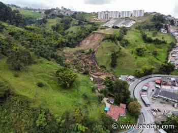 Deslizamiento de tierra en la entrada de Villamaría - La Patria.com