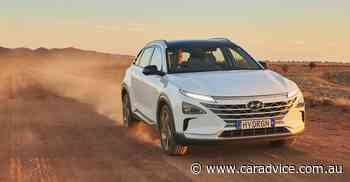 Hyundai Nexo hydrogen car sets distance record from Melbourne to Broken Hill, comes back on a trailer - CarAdvice