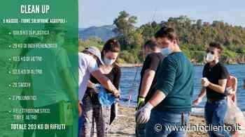 Agropoli, volontari in azione: raccolti 200 chili di rifiuti alla foce del Solofrone - Info Cilento