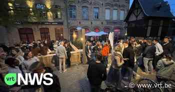Ieper plaatst extra tafels in uitgaansbuurt om cafébezoekers veiliger op te vangen - VRT NWS