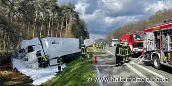 A31 nach Lkw-Unfall voraussichtlich bis Mitternacht gesperrt   Reken - Halterner Zeitung