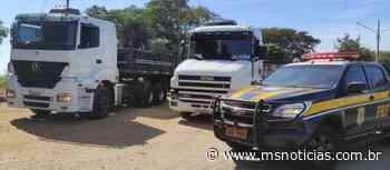 PRF recupera duas carretas em Ivinhema (MS) - MS Notícias