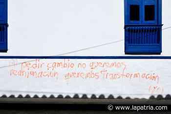 Comité del Paro de Salamina se une a rechazo de grafitis en viviendas patrimoniales - La Patria.com