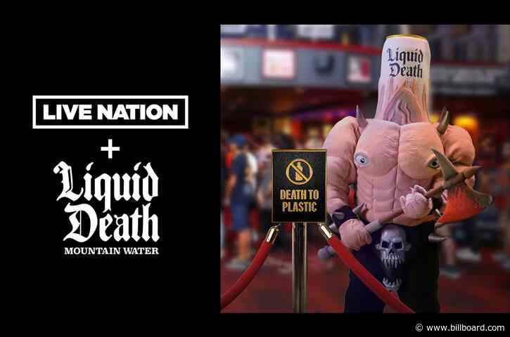 Who's Up for a Liquid Death? Live Nation Signs Deal for Canned Water
