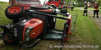 Elsdorf: Traktor kippt auf Wiese um – Fahrer kann sich nicht befreien - Kölnische Rundschau