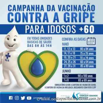 Prefeitura de Vargem Grande Paulista inicia hoje a vacinação contra a gripe nos idosos - Portal Oeste Paulista