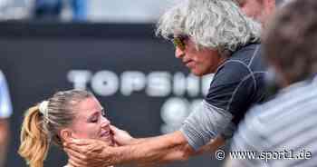 Tennis: Vater von Camila Giorgi sorgt für Wirbel - Schiedsrichterin ruft um Hilfe - SPORT1
