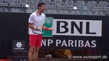 ATP Rom: Novak Djokovic brüllt Schiedsrichter an - heftiger Ausraster wegen Regenpause - Eurosport DE