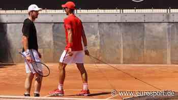ATP Rom: Novak Djokovic und Andy Murray trainieren und scherzen gemeinsam - Eurosport DE