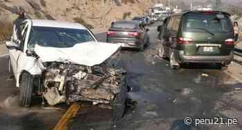 Carretera Central: triple choque dejó al menos nueve personas heridas en Matucana - Diario Perú21