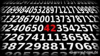 Zahlen, bitte! 42 - Douglas Adams' spektaktulär unspektakuläre Anhalter-Antwort - heise online