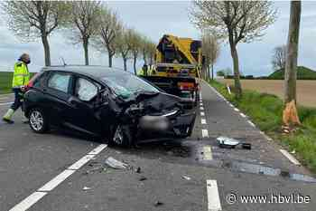 Vrouw gewond na knal tegen boom in Herstappe - Het Belang van Limburg