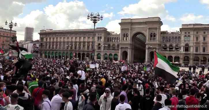Milano, 3mila persone in piazza Duomo alla manifestazione a sostegno della Palestina