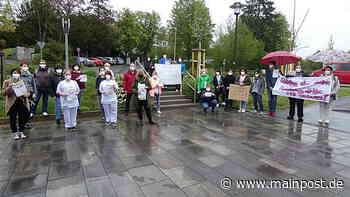 Krankenhaus Ebern: Beschäftigte demonstrieren für Erhalt ihrer Jobs - Main-Post
