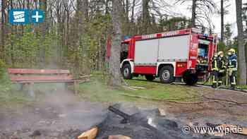 Wilnsdorf: Unbekannte zündeln und randalieren im Wald - Westfalenpost