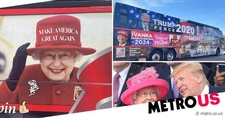 Buckingham Palace 'told Donald Trump reelection bus to remove faked image of Queen wearing MAGA hat'