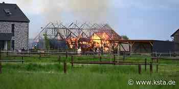 Rhein-Erft-Kreis: Scheune in Erftstadt brennt komplett nieder - Kölner Stadt-Anzeiger