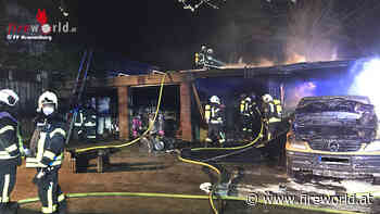 D: Fahrzeug und Carport brannten bei Wohnhaus in Kranenburg | Fireworld.at - Fireworld.at