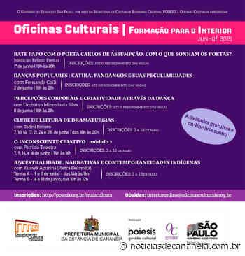"""Notícias PROGRAMAÇÃO CULTURAL JUNHO """"Oficinas Culturais em Cananeia"""" - Noticia de Cananéia"""