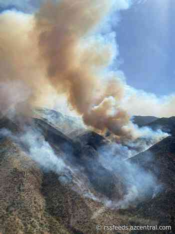 Tussock Fire near Crown King burns 5,500 acres; containment at 15%