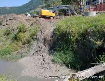 Cesan/Ambiental Serra descarta material de obra em córrego de Pitanga - Portal Tempo Novo