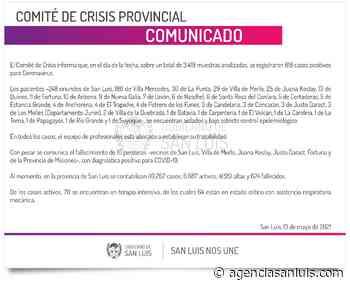 Ascienden a 618 los casos de Coronavirus registrados este jueves - Agencia de Noticias San Luis