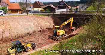 So ist der Stand der Bauarbeiten am neuen Freizeitweg in Freisen - Saarbrücker Zeitung