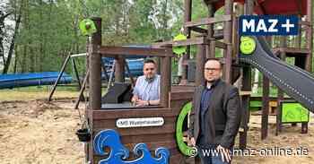 Wusterhausen: Neues Spielschiff im Strandbad nach Kinderwünschen gebaut - Märkische Allgemeine Zeitung