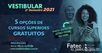 ETEC e FATEC lançam inscrições para o segundo semestre de 2021 - Saúde – Prefeitura Municipal de Jales