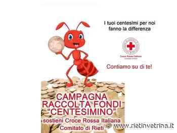 """Dal 14 maggio inizia la campagna della Croce Rossa Rieti """"Il Centesimo"""". Saranno distribuiti barattoli in tutta la Città - Rietinvetrina"""