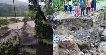 Tromba destruye caminos en Misantla - La Opinión