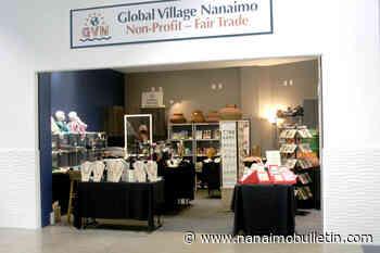 Global Village Nanaimo non-profit shop selling wares during Fair Trade Month