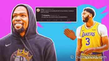 Lakers news: Kevin Durant blasts fan for slander on him, Anthony Davis - ClutchPoints