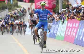 Bernardo Suaza ganó la primera etapa de la Vuelta a Colombia - El Espectador