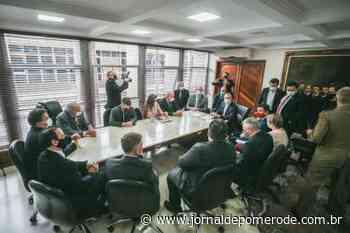 Governador Moisés visita Alesc e pede derrubada de veto sobre rodovias federais - Jornal de Pomerode