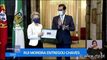 """Líderes europeus recebem """"Chave da Cidade do Porto"""" - RTP"""