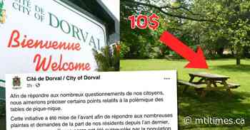 City rethinks charging for Dorval picnic table reservations - Mtltimes.ca - mtltimes.ca