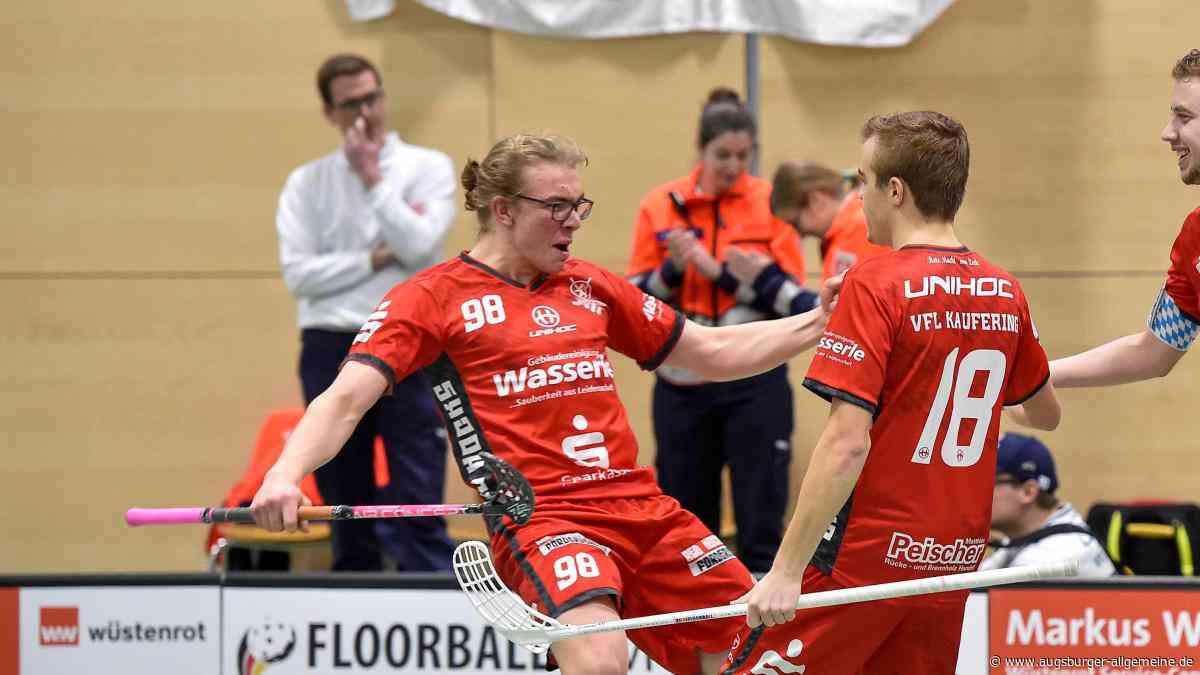 Keiner jubelt bei den Kauferinger Floorballern wie Moritz Leonhardt