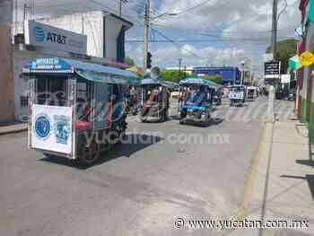 Mototaxistas realizan una caravana de unidad por las calles de Ticul - El Diario de Yucatán