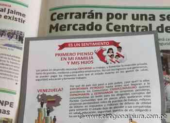 Parte de población de Sechura rechaza presunta guerra sucia del diario La Hora contra Pedro Castillo - El Regional