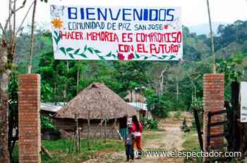 Apoyo internacional a Comunidad de Paz de San José de Apartadó en puja contra el Ejército - El Espectador