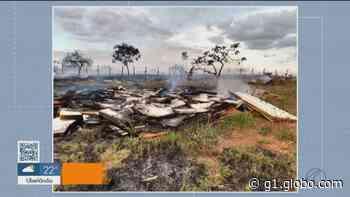 Incêndio é registrado em terreno no Bairro Sibipuruna em Araguari - G1