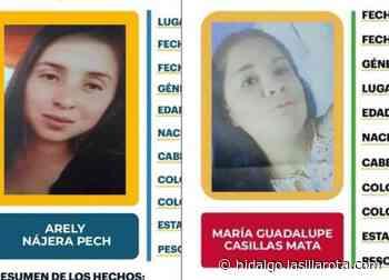 Buscan a Arely y María Guadalupe, desaparecieron en Santiago de Anaya y Tizayuca - La Silla Rota