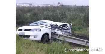 TRÁGICO: Carro bate violentamente em poste nesta quinta-feira em Garopaba e jovem condutor, de 22 anos, morre no local - Portal AHora