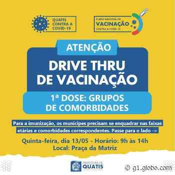Quatis vacina contra a Covid-19 pessoas de 45 a 49 anos com comorbidades nesta quinta-feira - G1