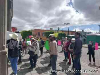 Pobladores piden cancelación de obras en predio de Santa Anita Huiloac - Linea de Contraste