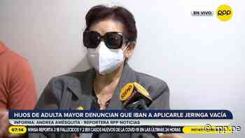 Familia denuncia que anciana iba a ser inyectada con una jeringa vacía en vacunatorio de Santa Anita [VIDEO] - RPP Noticias